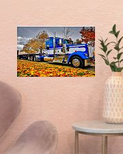 Trucker - Semi Truck In Autumn 17x11 Poster poster-landscape-17x11-lifestyle-22