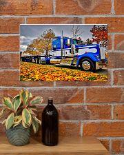 Trucker - Semi Truck In Autumn 17x11 Poster poster-landscape-17x11-lifestyle-23