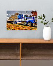 Trucker - Semi Truck In Autumn 17x11 Poster poster-landscape-17x11-lifestyle-24