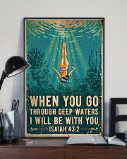 When You Go Through Deep Waters I Will Be With You 11x17 Poster lifestyle-poster-2