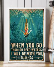 When You Go Through Deep Waters I Will Be With You 11x17 Poster lifestyle-poster-4