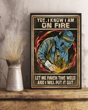 Welder I Am On Fire 11x17 Poster lifestyle-poster-3