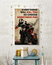 Motorcycle Choose Something Fun 11x17 Poster lifestyle-holiday-poster-3