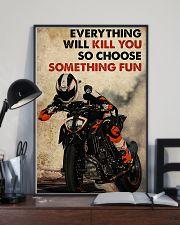 Motorcycle Choose Something Fun 11x17 Poster lifestyle-poster-2