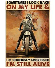 Motorcycle Sometimes I Look Back On My Life 11x17 Poster front