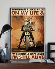 Motorcycle Sometimes I Look Back On My Life 11x17 Poster lifestyle-poster-2
