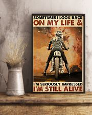 Motorcycle Sometimes I Look Back On My Life 11x17 Poster lifestyle-poster-3