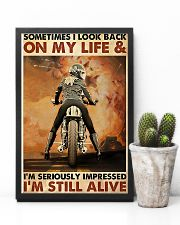 Motorcycle Sometimes I Look Back On My Life 11x17 Poster lifestyle-poster-8