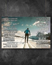 Skiing Today Is A Good Day 17x11 Poster aos-poster-landscape-17x11-lifestyle-12