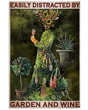 Gardening Easily Distracted By Garden And Wine 11x17 Poster front