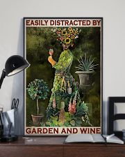 Gardening Easily Distracted By Garden And Wine 11x17 Poster lifestyle-poster-2