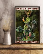 Gardening Easily Distracted By Garden And Wine 11x17 Poster lifestyle-poster-3