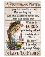 Fishing A Fisherman's Prayer Live To Fish 11x17 Poster front