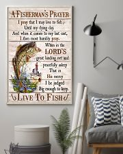 Fishing A Fisherman's Prayer Live To Fish 11x17 Poster lifestyle-poster-1