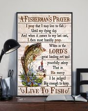 Fishing A Fisherman's Prayer Live To Fish 11x17 Poster lifestyle-poster-2