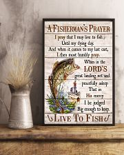 Fishing A Fisherman's Prayer Live To Fish 11x17 Poster lifestyle-poster-3