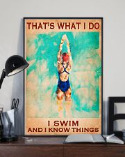Swimming - I Swim And I Know Things 11x17 Poster lifestyle-poster-2
