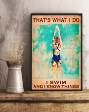 Swimming - I Swim And I Know Things 11x17 Poster lifestyle-poster-3