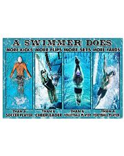 Swimming Swimmers 17x11 Poster front