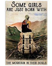 Hiking Girls Are Just Born With The Mountain 11x17 Poster front