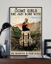 Hiking Girls Are Just Born With The Mountain 11x17 Poster lifestyle-poster-2