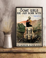 Hiking Girls Are Just Born With The Mountain 11x17 Poster lifestyle-poster-3