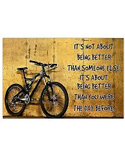 Cycling Better The Day Before 17x11 Poster front