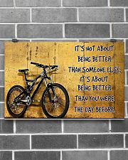 Cycling Better The Day Before 17x11 Poster poster-landscape-17x11-lifestyle-18