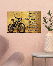 Cycling Better The Day Before 17x11 Poster poster-landscape-17x11-lifestyle-22