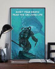 Scuba Diving Don't Fear Death 11x17 Poster lifestyle-poster-2