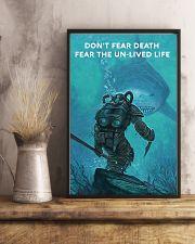 Scuba Diving Don't Fear Death 11x17 Poster lifestyle-poster-3