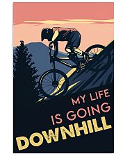 Cycling Downhill 11x17 Poster front