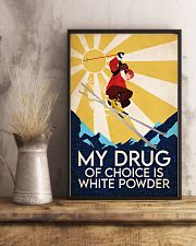 Skiing My Drug Of Choice Is White Powder 11x17 Poster lifestyle-poster-3