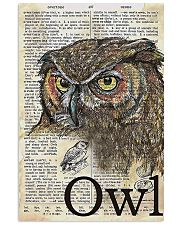 Owl Art 11x17 Poster front