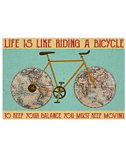 Cycling Life Is Like Riding 17x11 Poster front