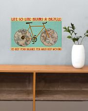 Cycling Life Is Like Riding 17x11 Poster poster-landscape-17x11-lifestyle-24