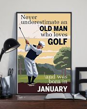 An Old Man Who Loves Golf And Was Born In January 11x17 Poster lifestyle-poster-2