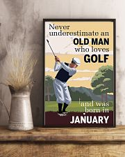 An Old Man Who Loves Golf And Was Born In January 11x17 Poster lifestyle-poster-3