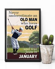 An Old Man Who Loves Golf And Was Born In January 11x17 Poster lifestyle-poster-8