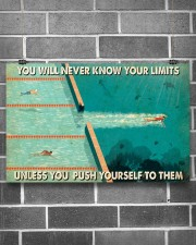 Swimming You Will Never Know Your Limits  17x11 Poster aos-poster-landscape-17x11-lifestyle-18