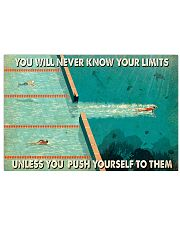Swimming You Will Never Know Your Limits  17x11 Poster front