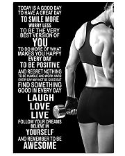 Fitness Today Is A Good Day 11x17 Poster front