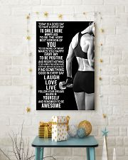 Fitness Today Is A Good Day 11x17 Poster lifestyle-holiday-poster-3