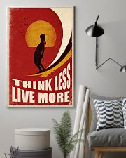 Surfing Think Less Live More 11x17 Poster lifestyle-poster-1