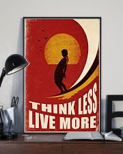 Surfing Think Less Live More 11x17 Poster lifestyle-poster-2