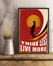 Surfing Think Less Live More 11x17 Poster lifestyle-poster-3