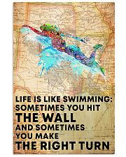 Swimmer Life Is Just Like Swimming 11x17 Poster front