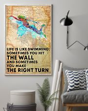 Swimmer Life Is Just Like Swimming 11x17 Poster lifestyle-poster-1