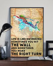 Swimmer Life Is Just Like Swimming 11x17 Poster lifestyle-poster-2
