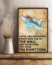 Swimmer Life Is Just Like Swimming 11x17 Poster lifestyle-poster-3